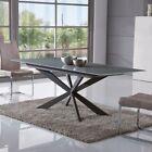 Tavolo da pranzo rettangolare bianco allungabile con piana vetro 160 x 90