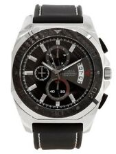 New Authentic Guess U15047G1 Men's Waterpro Chronograph Black Strap Watch NW TAG