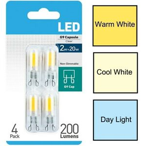 4 x Status G9 2W (20W) Daylight Warm Cool White LED Non Dimmable Capsule Bulb