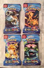 POKEMON XY EVOLUTIONS FULL ART SET (4) 10 CARD BLISTER PACK  SEALED FREE SHIP