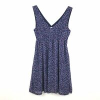 American Eagle Outfitters Womens Size 4 Graphic Print V Neck Sleeveless Dress