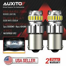 2X AUXITO 1156 BA15S 7506 LED Back up Reverse Turn Signal Side Marker Light Bulb