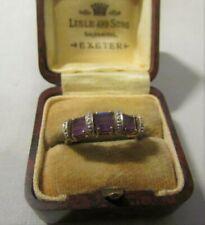 LOVELY UK HALLMARKED 9ct GOLD AMETHYST & DIAMOND LADIES RING BY MJ 2.61 GRAMS