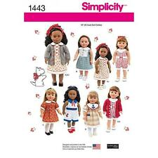 SIMPLICITY SEWING PATTERN 18 INCH 45.5CM) DOLL CLOTHES  1443