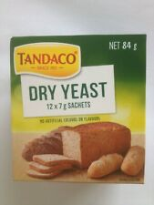 Tandaco Dry Yeast for Baking Bread 12 x 7g Sachets