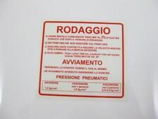 Adesivo ISTRUZIONI DI RODAGGIO ROSSO VESPA V50, PV