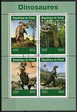 Chad 2019 CTO Dinosaurs T-Rex 4v M/S Dinosaur Prehistoric Animals Stamps