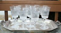 """Set of 9 LENOX Brilliance Hand Blown 7 1/8"""" Water or Wine Glasses - Ships Free"""