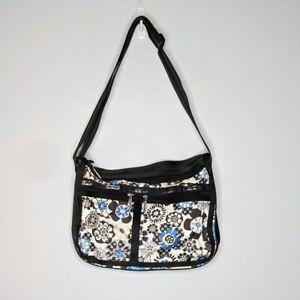LeSportSac Blue White Floral Everyday Crossbody Messenger Bag