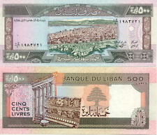 LIBAN LEBANON 500 LIVRES NEUF UNC
