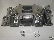 Small Block Chevy Sbc Crosswind Polished Aluminum Intake  Manifold AirGap