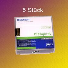 5 Stück Quantum DLT IV, THXKD-02, 20-80 GB, Datenkassetten NEU & OVP