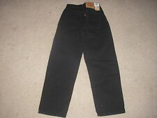 Brand New With Tag Girls Black Levi's Red Tab Jeans 550 Size 10 Slim