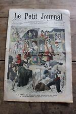 Petit journal illustré 892 1907 Inondés du Midi Locomotion à travers les âges 2