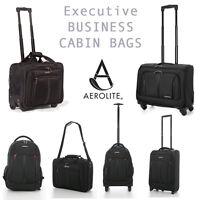 Aerolite Executive Business Mobile Office Laptop Cabin Hand 2 & 4 Wheel Luggage