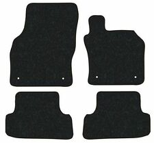Seat Leon (2013-Date) Black Checker Plate Rubber Tailored Car Floor Mats