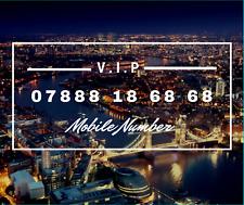 UNIQUE BUSINESS RARE GOLD VIP MOBILE PHONE NUMBER 07888186868 DIAMOND PLATINUM