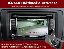OEM RCD510 Radio 6Disc CD Player + Backup Camera + Multimedia Interface Adapter