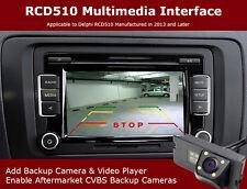 OEM RCD510 Radio 6Disc CD Player + Backup Camera Multimedia Interface Adapter