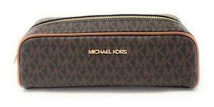 Michael Kors Giftables Medium Pencil Case Signature Leather Makeup Case