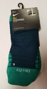 Nike Golf Socks Dry Cushioned No Show Socks Sz Large (8-12) SG0779-300 Green