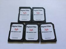 Lot of 5pcs 2g DIGITALFILM standard SD MEMORY CARD SD NIKON CANON,Trail Cameras