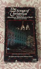 THE SONGS OF CHRISTMAS FEATURING MORMON TABERNACLE CHOIR VHS MUSIC & CONCERTS G
