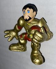 Marvel Super Hero Squad Iron Man Figure Gold Color Helmet Off Stark Hasbro 2008