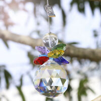 Crystal Suncatcher Handmade Glass Rainbow Pendant Snowman Hanging Ornament Gift