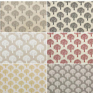 Cotton Rich Linen Look Fabric Mulberry Trees Upholstery Cushion Curtain