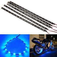 5Pcs 30CM/15 LED Car Motors Truck Flexible Strip Light Waterproof 12V Blue New