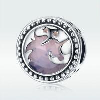 Unicorn 925 Sterling Silver Fashion Pendant Charm For Women Bracelet Necklace