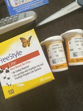 No Box 100 FreeStyle Lite Test Strips Exp 4/2021 *Vials Only *29.99