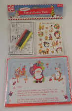 CHRISTMAS SANTA`S LETTER PACK AGE 3+ & STICKERS.COLOURING SHEET COLOUR PENCILS
