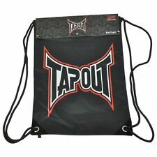 Tapout UFC Logo Basic Bacsac Backpack Drawstring Fighter Bag Backsack Black Red