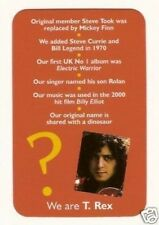 T. Rex - Marc Bolan - #R Pop Rock Music Card