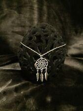 dream catcher pendant accessory silver chain necklace women