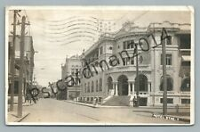 Hotel Street HONOLULU Hawaii RPPC Rare Antique Photo YMCA Amsterdam Posted <1908