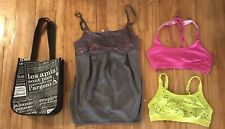 Lole Kos USA & Aerie Sport Bra Top  Lot Lululemon Shopping Bag Size S