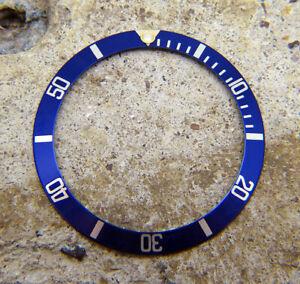 Genuine Rolex Submariner 16803 16613 16808 16818 Blue & Gold Watch Bezel Insert