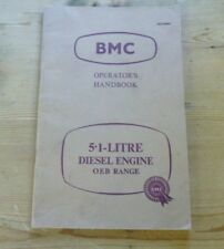 Car handbook bmc operation 5.1 litre Diesel engine oeb range akd 1866. 1961