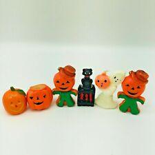 5 Vintage Gurley Halloween Candles Black Cat, Pumpkins, Ghosts Wax