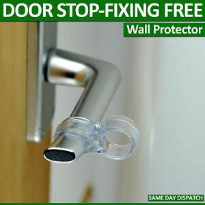 4 WALL PROTECTOR FITS ON DOOR HANDLE BUMPER GUARD DIY STOPPER EASY FIX NO FIXING