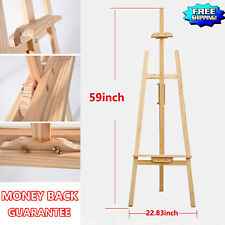 Durable Wood Wooden Sketch Easel Artist Painter Stand lyre Floor Drawing Display