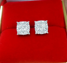 DEAL! 1.00CTW NATURAL ROUND DIAMOND CLUSTER STUDS EARRINGS IN 10K GOLD 7MM