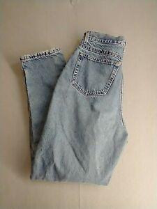 LL Bean Women's Denim Jeans 28X29 Blue Flannel Lined High Rise Warm Workwear