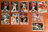Paul DeJong Refractor, Rainbow Foil, Rookie Cup, Chrome, Inserts - 10 Card Lot