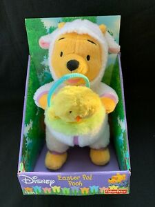 New 2003 Fisher Price Easter Pal Pooh Plush