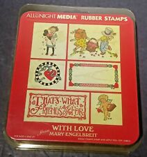 New in Package All Night Media With Love From Mary Engelbreit  Rubber Stamp Set