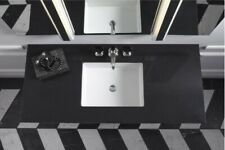 """Robern Tf37Uco90-8- 37""""Vanity Top w/ White Sink 8"""" Widespread faucet-Lava Black"""